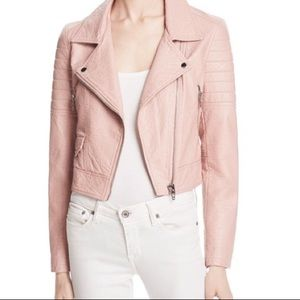 Blank NYC Blush Pink Faux Leather Moto Jacket Med